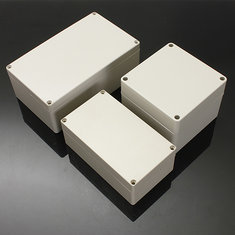 Waterproof ABS Plastic Electronic Box White Case 6 Size Junction Case