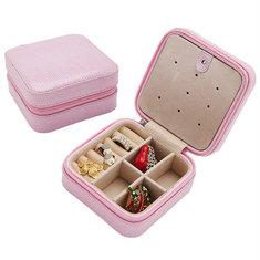 Travel Snake PU Leather Jewelry Storage Earrings Box Case