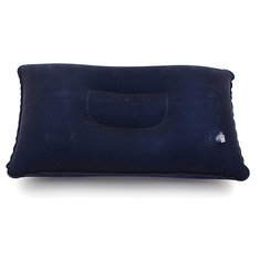 New Blue Travel Inflatable Soft Pillow Cushion Protect Neck