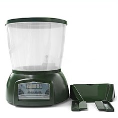 Automatic Fish Food Feeder Digital Programmable Feeding Dispenser LCD Display Mounting Hardware