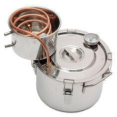 10L New Copper Distiller Moonshine Alcohol Still Stainless Thermometer DIY Home Brew Kit