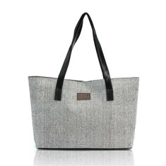 Women Canvas Tote Bags Casual Simple Shoulder Bags Large Capcity Shopping Bags