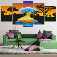 5Pcs Set Star Modern Canvas Print Paintings Unframed Wall Art Pictures Home Decor