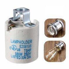 E27 Ceramic Lamp Holder LED Light Bulb Socket Accessory Screw Cap Adapter Converter