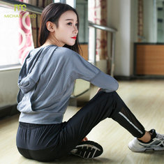 Women Hooded Running Shirts Jersey Breathable Sportswear Fitness Yoga Top Sports