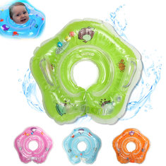IPRee™ Baby Infant Swimming Pool Bath Neck Floating Inflatable Ring Built-in Belt