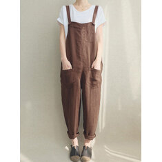 Women Strappy Sleeveless Cotton Jumpsuit