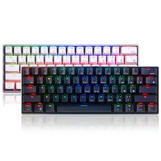 Royal Kludge RK61 Mechanisch gamingtoetsenbord met 61 toetsen Bluetooth Bedraad RGB-toetsenbord met dubbele modus