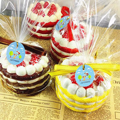 Eric Squishy Cuteyard Tag Jumbo Strawberry Cake Licensed Slow Rising Original Packaging Collection Gift Decor