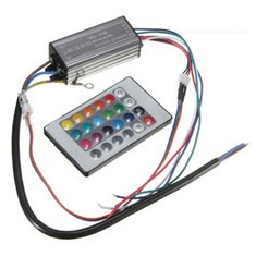 20W RGB LED Chip Light Lamp Driver Power Supply Waterproof IP66 With Remote Control