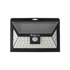 ARILUX® PL-SL 11 Solar Power 44 LED PIR Motion Sensor Light Outdoor Wide Angle Waterproof Wall Lamp