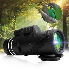 Xmund XD-TE4 40x60 Monocular HD Optic BAK4 Day Night Vision Telescope 1500m/9500m Outdoor Camping Hiking