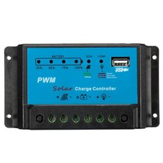 10A 12V Intelligent PWM Solar Panel Charge Controller Auto Battery Regulator