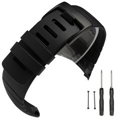 Silicone watch band replacement watch bracelet strap With clasp fastener for SUUNTO CORE