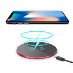 Qi Wireless Aluminum Alloy Desktop Charger Pad for Samsung S8 Note 8 iPhone 8 Plus