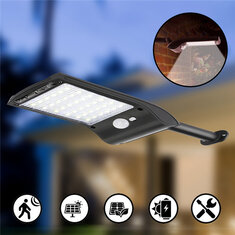 Solar Powered 36 LED PIR Motion Sensor Waterproof Street Security Light Wall Lamp for Outdoor Garden