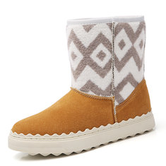 Women Winter Fur Lining Keep Warm Suede Ankle Snow Boots