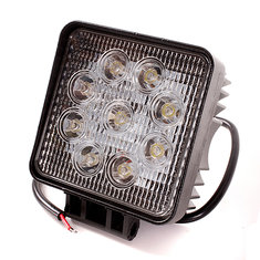 27W 9LED Driving Work Flood Light Lamp For Off Road Jeep Truck Boat SUV