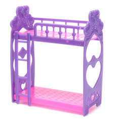 Miniature Double Bed Toy Furniture For Dollhouse Decoration