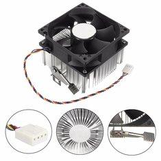 4PIN 12V Socket PWM 7 Fan Computer CPU Cooler Aluminium Heat Sink AMD Copper Core