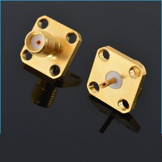 SMA-KFD 5mm Flange Connector SMA Female 4 Hole Square Plate Straight For Coaxial Cable RC Drone