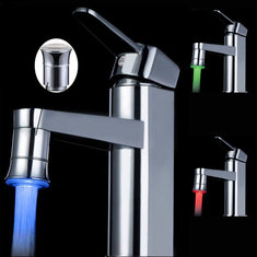 LED Full Brass Temperature Control Spontaneous Light Faucet Tap