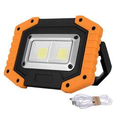 30W LED COB Outdoor IP65 Waterproof Work Light Camping Emergency Lantern Floodlight Flashlight