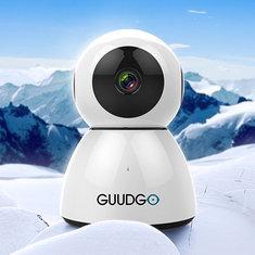 GUUDGO GD-SC03 Snowman 1080P Cloud WIFI IP Camera Pan&Tilt IR-Cut Night Vision Two-way Audio M otion Detection Alarm Camera Monitor Support Amazon-AWS[Amazon Web Services] Cloud Storage Service