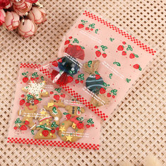 100PCS Christmas Cookie Candy Bags Gift Packaging Bag