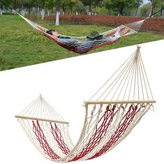 190x80cm Outdoor Camping Hammock Cotton Rope Swing Hanging Bed Garden Patio Max Load 100kg