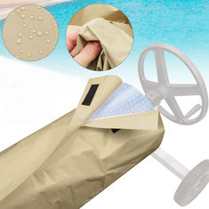 16Ft Swimming Pool Solar Blanket Roller Reel Waterproof Cover Outdoor Dust Protector Storage Bag