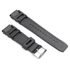 22mm Black Rubber Replacement Band Strap With Batch