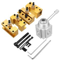 Quick Change Post Holder Kit Set Boring Bar Turning Tool Holder For CNC Mini Lathe