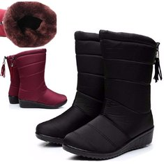 Women's Winter Outdoor Snow Boots Waterproof Rain Boots Non-Slip Keep Warm Thick Fluff