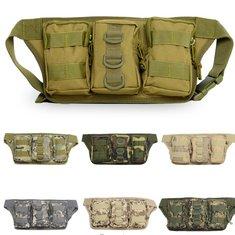 Outdoor Camping Hiking Waist Bag Trekking Waist Pack Camo Pouch