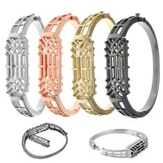 Stainless Steel Metal Bracelet Bangle Replacement Wrist Band For Fitbit Flex 2