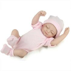 DOLL Reborn Silicone Handmade Lifelike Baby Girl Doll Realistic Newborn Toy