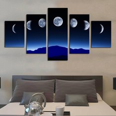 5  Cascade Lunar Annual Variation  Canvas Wall Painting Picture Home Decoration Without Fram