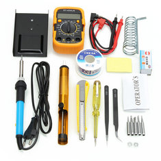 110V/220V 60W Adjustable Temperature Welding Solder Soldering Iron Multi Meters Toolkits