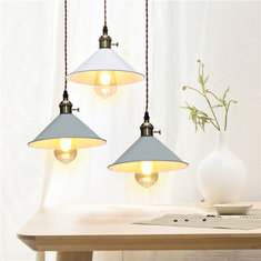 E27 Retro Industrial Hanging Chandeliers Ceiling Lamp Iron Pendant Lights AC110-240V