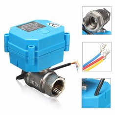 1/2 Inch NPT Electric Motorized Ball Valves Stainless Steel DC24V DN15 2-Way 3-Wire