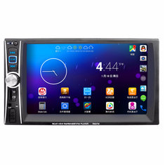 7653 7 Inch 2 Din In Dash Touch Screen bluetooth Stereo Car MP5 Player FM USB Aux Camera