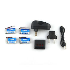 JJRC H31 RC Quadcopter Spare Parts 4Pcs 3.7V 400MAH 30C Battery and Charger Set X4A-A13