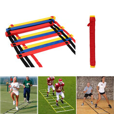 12 Rung Speed Agility Ladder Soccer Sport Ladder Training Carry Bag