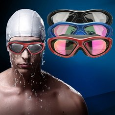 UV Anti Fog Waterproof Racing Swim Swimming Goggles Adjustable Swimming Goggles