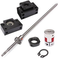 SFU1605 650mm Ball Screw with BK12 BF12 Ball Screw End Supports and Coupler