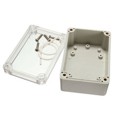 3Pcs Electronic Plastic Box Waterproof Electrical Junction Case 100x68x50mm