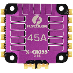 FLYCOLOR X-Cross 45A 3-6S 5V/3A 4IN1 ESC 48Mhz w/CNC Aluminium Alloy Quick Cooling Shell For FPV Racing RC Drone