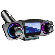 ACCNIC LED Hands Free Wireless Bluetooth4.0 FM Transmitter Aux Modulator Car Auto Audio MP3 Player Dual USB Charger