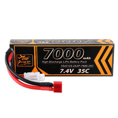 ZOP Power 7.4V 7000MAH 35C 2S Lipo Battery T Plug For RC Car Quadcopter